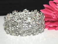Beautiful Swarovski crystal Stretch Vine Bridal Bracelet  - CLEARANCE