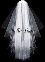 Best Seller - Beautiful two tier scattered crystal wedding veil - SPECIAL