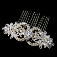 Beautiful vintage gold hair comb - SALE