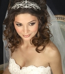 Beautiful vintage inspired filigreed crystal wedding headband - SALE