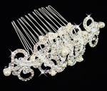 Beautiful vintage pearl bridal comb - Sale