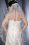 Beautiful vintage scroll wedding veil - bel aire v7089