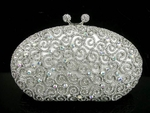 Beautiful vintage swirl swarovski crystal purse - SPECIAL