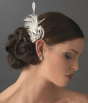 Bella - Breathtaking vintage-inspired feather crystal hair clip - SALE!!