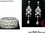 Bella- Equisite Vintage High end CZ jewelry set - Amazingly priced!!