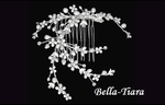 Bella-Unique Ivory freshwater pearl crystal vine bridal comb