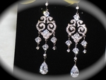 BELLA- Vintage Cubic Zirconia Bridal Chandelier Earrings - AMAZING PRICE!!