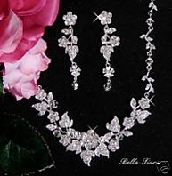 Bellasposa - Stunning Crystal Bridal Necklace Set - SPECIAL