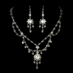 Belle - STUNNING!! Swarovski Crystal Wedding necklace set - SALE