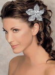 Bellezza-AMAZING!!! Austrian crystal flower bridal Hair comb