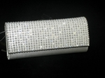 Bellina - Beautiful light ivory rhinestone bridal clutch purse - SPECIAL!! one left
