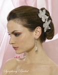 Bellina - STUNNING crystal flower bridal hair comb - SALE!!