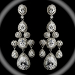 Bellissima - Royal Collection - COUTURE Statement Chandelier wedding Earrings - GREAT PRICE