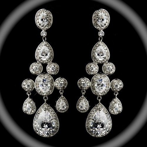 Wedding Earrings Chandelier: Bellissima - Royal Collection - COUTURE Statement Chandelier wedding  Earrings - GREAT PRICE,Lighting
