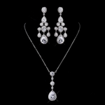 Bellissima - Stunning high end CZ necklace earring set - SALE