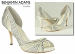 Benjamin Adams Catherine Crystal Bridal Shoes -FREE SHIPPING Anywhere