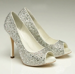 Benjamin Adams Charlize Crystal Wedding Shoe -SALE free shipping