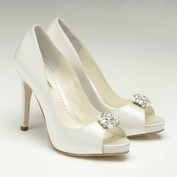 Benjamin Adams keira white & ivory Wedding Shoes