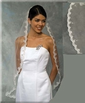 BEST SELLER Fingertip Mantilla Beaded Lace Scallop Edge - SALE!!!