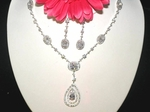 Bianca - Victorian beauty CZ bridal necklace set - SALE!!