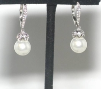 Bimba - NEW!! Beautiful elegant vintage pearl wedding earrings - SALE!!
