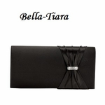 Black Satin Wedding Purse