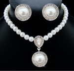 Blanche - Elegant Victorian Style Pearl Bridal Jewelry Set