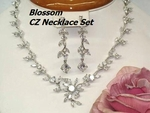 Blossom - Delicate romantic vine CZ bridal necklace set - SPECIAL