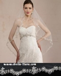 Blossom - Royal Collection Swarovski crystal edge wedding veil - SALE