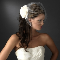 BOLD AND BEAUTIFUL rose with cage veil - SALE!!