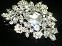 Bold and beautiful wedding brooch - SPECIAL - Amazing Deal!!