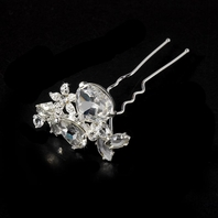 Bold crystal bridal hair pin