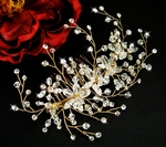Brea - Stunning Gold and Swarovski Crystal Bridal Comb