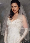 BREATHTAKING!! 2-tier  vintage beaded edge bridal veil - SALE!!
