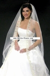 BREATHTAKING!!! COUTURE Cathedral silver beaded mantilla style bridal veil - SALE!!