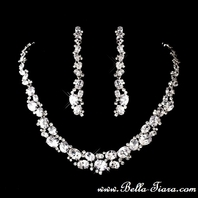 BREATHTAKING Cubic Zirconia bridal necklace set - SALE!!! Amazing Price