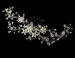 Breathtaking dazzling crystal vine bridal hair comb - SALE