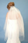 Brenda - Striking Veil with swarovski crystal Comb - SPECIAL