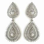 Brenna - Royal Collection vintage Swarovski crystal bridal earrings - SPECIAL