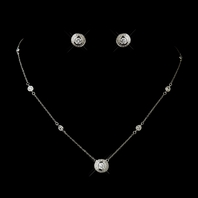 Brenta - Vintage Elegant CZ bridesmaids or bridal necklace set - Special