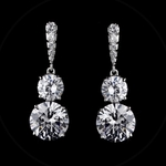 Brillante - Elegant cubic zirconia wedding earring - CLEARANCE one left