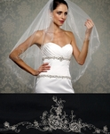 Brisa - Royal Collection - STUNNING HIGH END crystal embroidered wedding veil - SALE