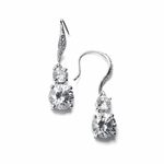 Cailey  - Elegant vintage CZ wedding earrings - SALE