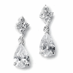 Calandra - Beautiful elegant CZ drop bride or bridesmaids earrings - SALE