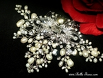 Camea - Beautiful Designer crystal freshwater pearl wedding comb - SPECIAL