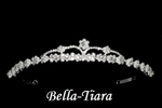 Camila - Beautiful Flower Pearl communion Tiara with Rhinestones  - SPECIAL