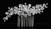 Carina - Beautiful sparkling crystal wedding comb - SALE!!