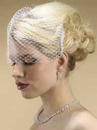 Carlie - Couture French Netting or Russian Tulle Birdcage veil - SALE