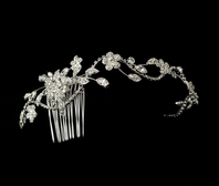 Carmella Rhinestone vine halo wedding headpiece  - SALE