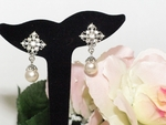 Carol-Vintage off white Pearl Bridal Earring set - Sale!!